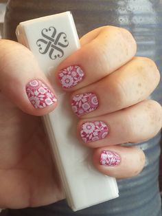 Sweet Sangria Lacquer and Chantilly Jamberry Wraps #SweetSangriaJN #ChantillyJN #jamberrynails http://laurenjean.jamberrynails.net/