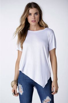 Basically Not Basic Top in White | Necessary Clothing