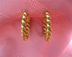 ON SALE was 14.99 Gold Tone Hoop Earrings by DelicateCreations on Etsy