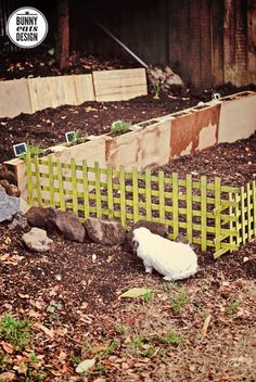 Terraced pallet garden. Bunny Eats Design