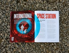 Kennedy Space Center Annual Report by Cassie Stegman, via Behance Booklet Design, Book Design Layout, Page Layout, Brochure Design, Typography Letters, Lettering, Annual Report Design, Print Packaging, Packaging Design
