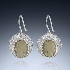 Nature inspired handcrafted artisan earrings by Baton Rouge, Louisiana artist, Ana Maria Andricain