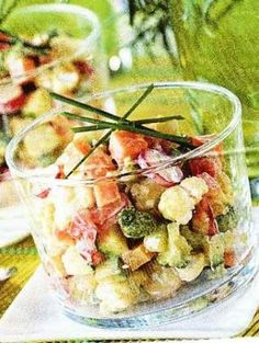 Recette - Verrine de tartare de légumes printaniers - Notée 4.7/5 par les internautes #regime #food #diet