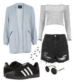 """""""Untitled #142"""" by jalyssa-o ❤ liked on Polyvore featuring adidas, River Island, Topshop and Boohoo"""