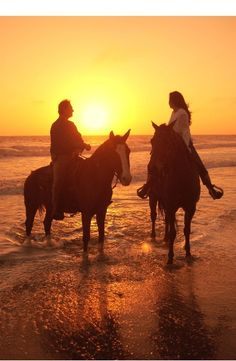 HORSE BACK RIDING ON THE EDGE OF THE OCEAN