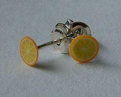 tiny fimo earrings