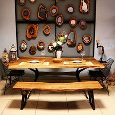 Ceviz ağacı yemek masası