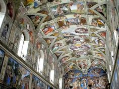 The Sistine Chapel - Vatican City, Italy.  Saw it before the 1984-1994 restoration.  Would love to go back to see it after the restoration.