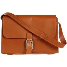 MAISON MARTIN MARGIELA 11 Medium leather bag (405 CAD) ❤ liked on Polyvore featuring bags, handbags, shoulder bags, purses, accessories, bolsas, leather purses, man shoulder bag, brown handbags and handbag purse
