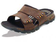 e8027f55b1adbe Ventura Adjustable Double Strap Slide Men s Sandal in brown. Lynco