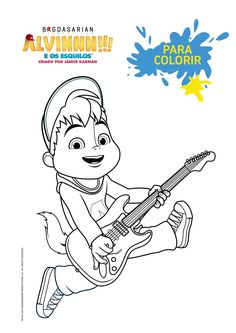 4fbf1d27d89  Para Colorir  Alvin Em Cores - Alvinnn!!! e os Esquilos - Programas - MUNDO  GLOOB