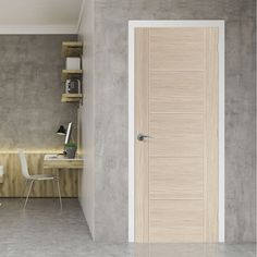 J B Kind Laminates Ivory Painted Door Pair - Clear Glass - Prefinished Cheap Internal Doors, White Internal Doors, Internal Wooden Doors, Oak Fire Doors, Primed Doors, Ivory Paint, Door Fittings, Flush Doors, Puertas