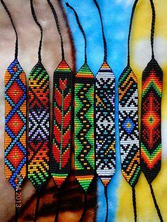 Loom Bracelet Patterns, Beaded Bracelets Tutorial, Beaded Earrings Patterns, Bead Loom Bracelets, Seed Bead Earrings, Loom Patterns, Beading Patterns, Seed Beads, Beaded Jewelry