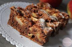 Kakaós-fahéjas almás szelet European Cuisine, Nutella, Banana Bread, Breakfast Recipes, Good Food, Food And Drink, Sweets, Cookies, Baking