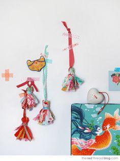 TUTORIAL :: Make sweet scrap fabric tassels