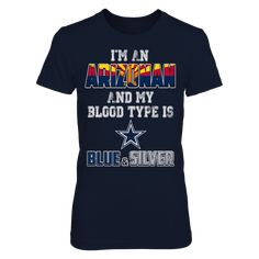 Dallas Cowboys Official Apparel - this licensed gear is the perfect clothing for fans. Dallas Cowboys Outfits, Dallas Cowboys Football, New Mexican, Fan Shirts, Blue And Silver, Blood, Type, Fans, Mens Tops