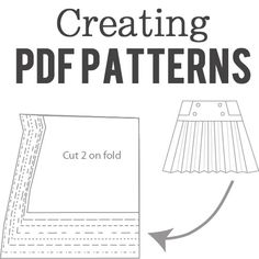 How to make sewing patterns for sale as PDF sewing patterns, including how to digitize, how to draft and how to grade sewing patterns.