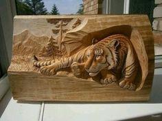 Tallado en madera, arte 3D