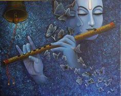 Blue - azul - butterflies - borboletas - music - música - flauta
