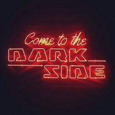 Really need to watch star wars series Stephen Hawking, Neon Quotes, Neon Words, Whatsapp Wallpaper, Neon Aesthetic, Neon Nights, All Of The Lights, Neon Lighting, Dark Side