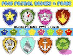 PAW PATROL BADGES & Paws Paw Patrol Birthday Paw Patrol