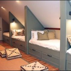 attic space Love this! sleeping and play space in the attic! This would be so fun for sleep overs!