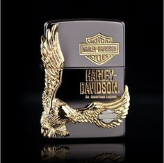 New ZIPPO lighters haleys black ice gold eagle wings