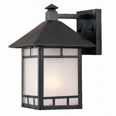 Acclaim Lighting Artisan 10.5-in H Matte Black Outdoor Wall Light - wet location installation!