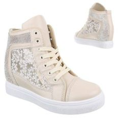 wedge lace trainers cream - fashion - trendy - style - purple reign Trendy Style, Trendy Fashion, Purple Reign, Trainers, Women Wear, Wedges, Cream, Sneakers, Lace