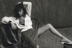 After taking a look at her two sultry covers for the magazine's December issue, Harper's Bazaar Spain has unveiled a look at Irina Shayk's accompanying feature. The Russian model wears a mix of lingerie styles and cozy knitwear photographed by Norman Jean Roy. Stylist Anya Ziourova selects lacy slips, fur coats and sweater knits for …