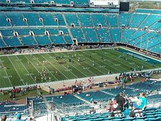 We're hoping for bigger crowds and better games now that we have a new owner!  Plus, my hair dresser is one of the cheerleaders and she's really cute!!  Jacksonville Jaguars Stadium by sygnetcreations, via Flickr