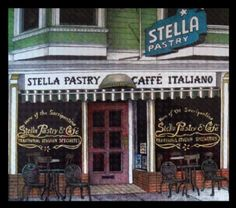 Little Italy San Francisco - Stella Pastry North Beach San Francisco, San Francisco City, San Francisco California, Great Places, Places To See, Restaurants, Little Italy, Napa Valley, Wine Country