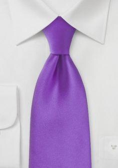 Mikrofaser-Krawatte einfarbig violett