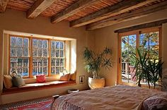 house building plans santa fe style | Love this Santa Fe style bedroom! | home decor - adobe like mine
