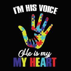 I'm his voice he is my heart svg, autism svg, autism awareness svg, dx – SVGTrending