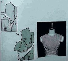 Amazing Sewing Patterns Clone Your Clothes Ideas. Enchanting Sewing Patterns Clone Your Clothes Ideas. Pattern Draping, Bodice Pattern, Collar Pattern, Top Pattern, Pattern Paper, Dress Sewing Patterns, Vintage Sewing Patterns, Clothing Patterns, Pattern Sewing