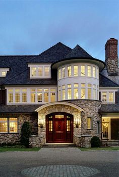Stone & rounded windows. Wow. Looks like a small castle