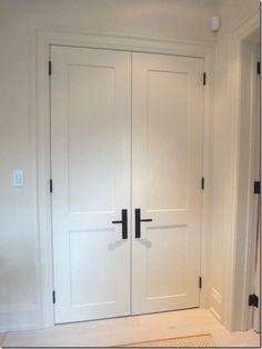 Shaker Style Interior Door Black Hardware Doors