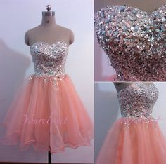 custom made organza short prom dress , prom dress with crystals, 2014 prom dress, evening dresses, party dress Prom Dress 2014, Pretty Prom Dresses, Dressy Dresses, Homecoming Dresses, Cute Dresses, Beautiful Dresses, Bridesmaid Dresses, Prom 2014, Dress Formal