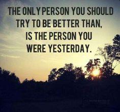 他人と比較するのではなく、昨日の自分より今日の自分がどれだけ成長しているか。