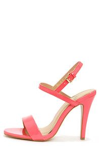 Ginger Pink Patent Strappy Dress Sandals (lulus.com)