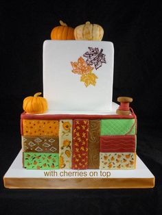 Autumn Quilt - Cake by WithCherriesOnTop