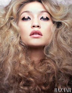 Carine Roitfeld Harper's Bazaar May issue beauty shoot | Gigi Hadid - Harper's Bazaar
