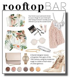 """""""rooftop bar"""" by beaxtiz ❤ liked on Polyvore featuring Ryan Roche, Gianvito Rossi, Borghese, Terre Mère, Olivia Burton, Forever 21, Illesteva, Givenchy, Bobbi Brown Cosmetics and Melissa Joy Manning"""