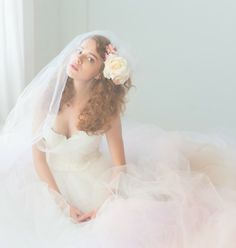 Tulle Wedding Gown Queen For a Day Gown Lace by clairelafaye