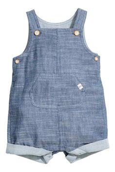 Salopette short - Bleu denim - ENFANT | H&M FR 1