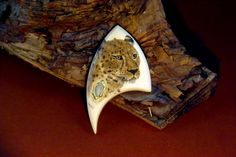 Scrimshaw from Gele Schloetmann on mammoth ivory