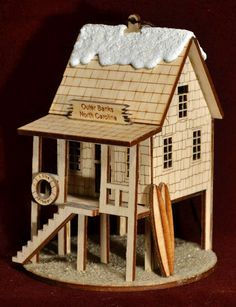 KIG Exclusives Ginger Cottages Ginger Clock Tower Wood Christmas Village House
