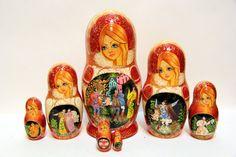 Russian Matryoshka 7pcs Fire Bird wonderful handmade by EtsyGrail