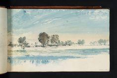 Joseph Mallord William Turner, 'River Scene, with Trees' c.1825
